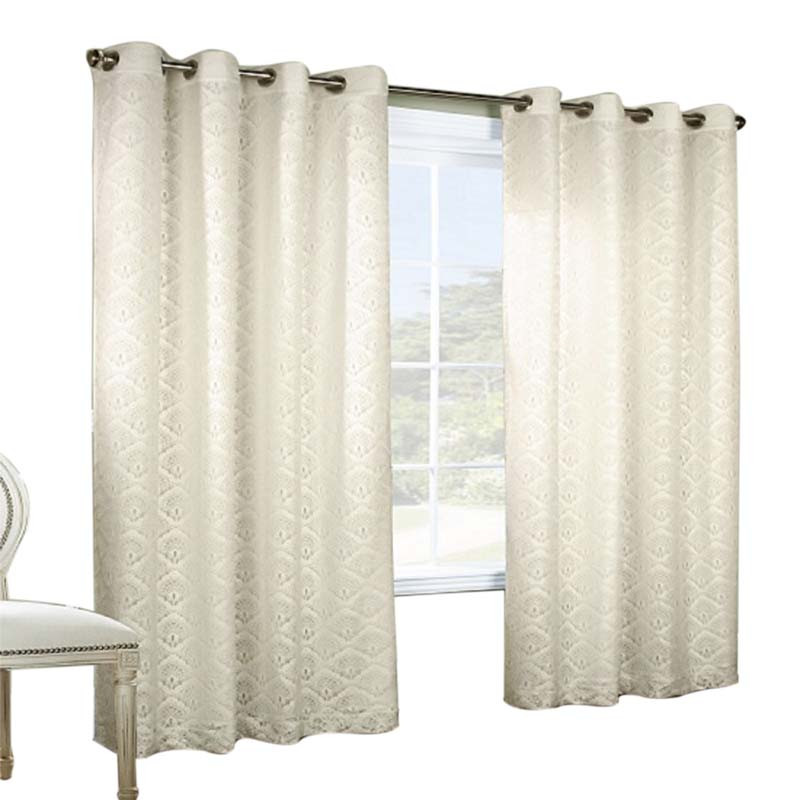 Thermalogic Anna Jacquard Lace Grommet Top Window Panel