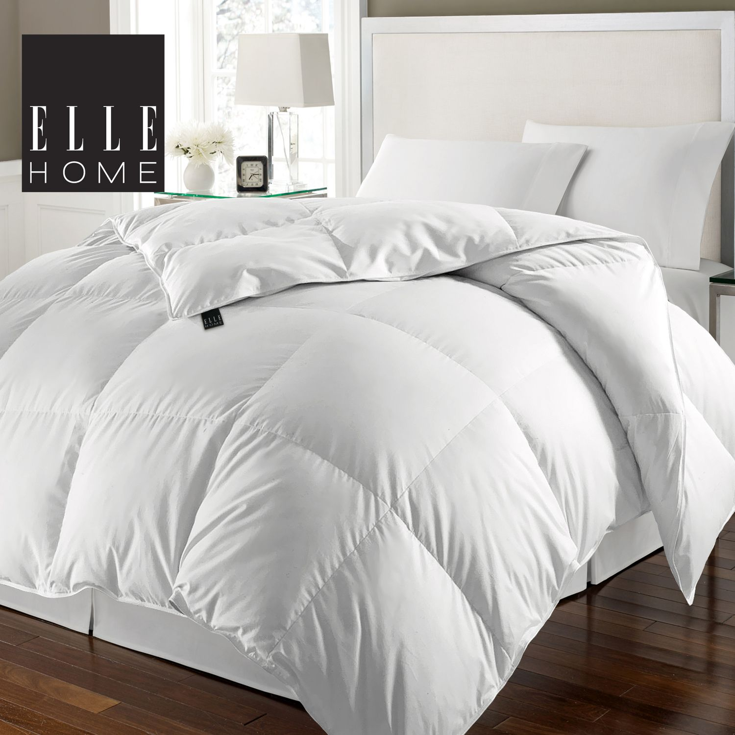 240 Thread Count Cotton Solid Cover White Goose Feather And Goose Down Comforter Ebay