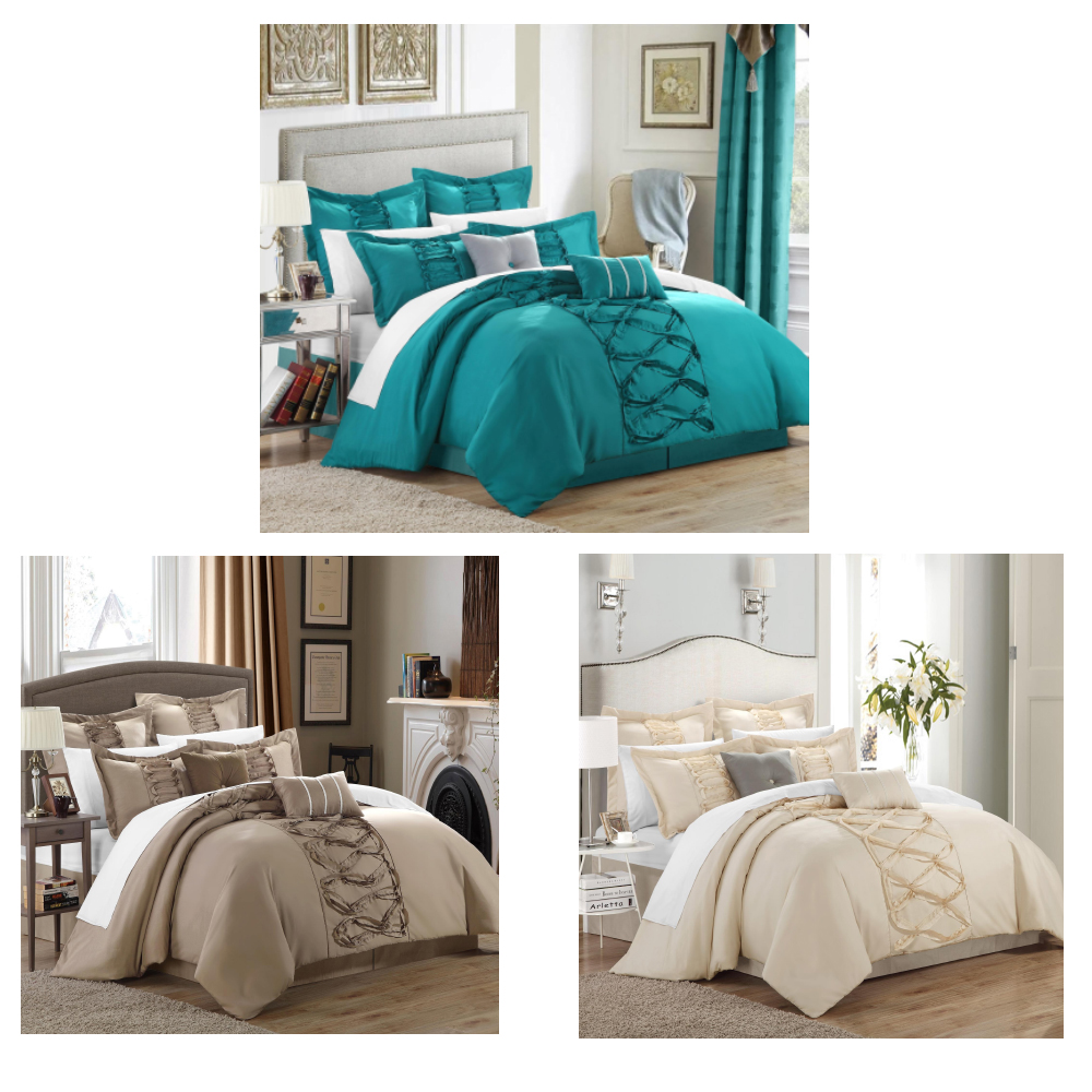 ruth ruffled comforter bed in a bag