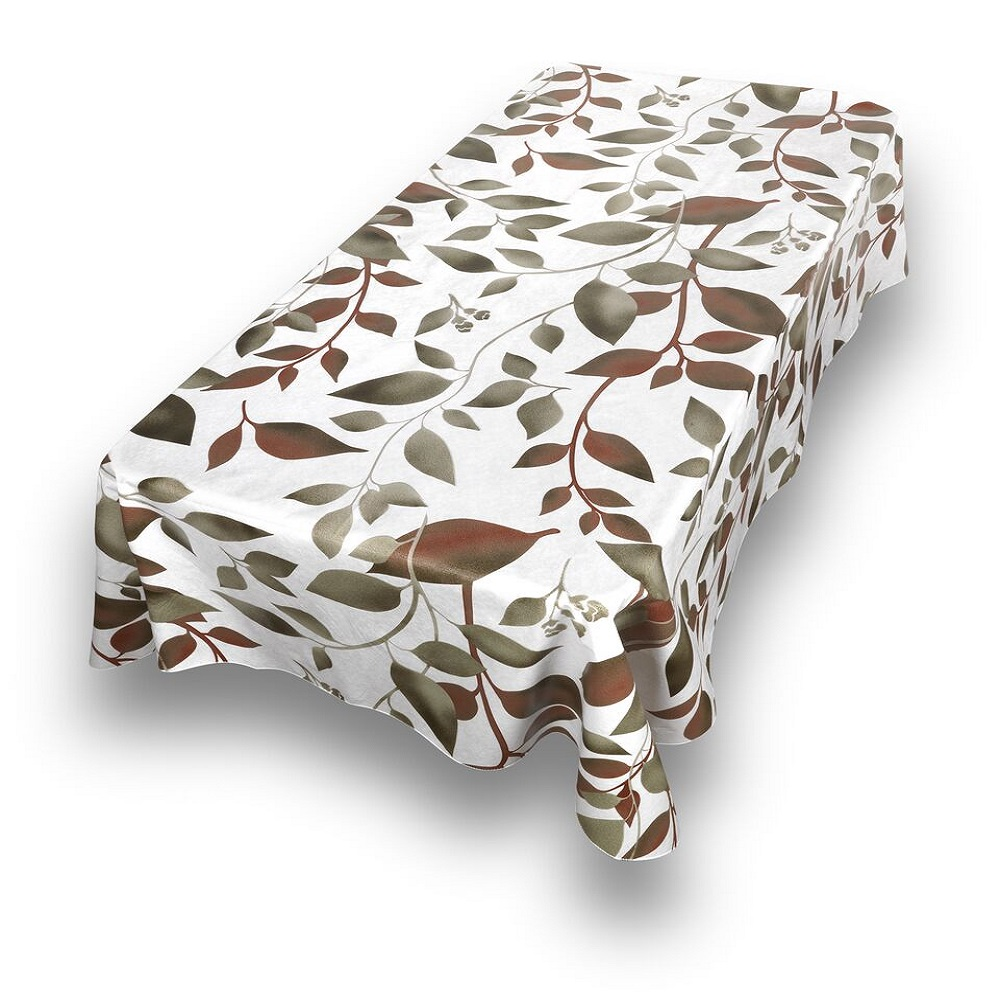 Flannel Backed Vinyl Tablecloth 52 034 X 70