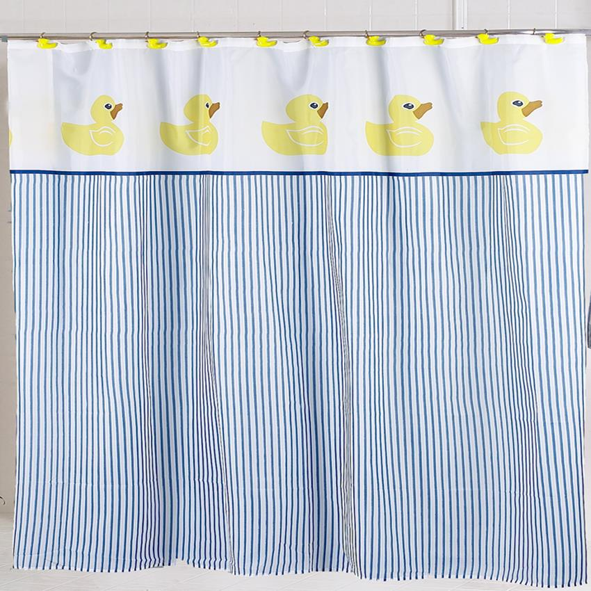 Carnation Home Ducky Fabric Shower Curtain 71821901449