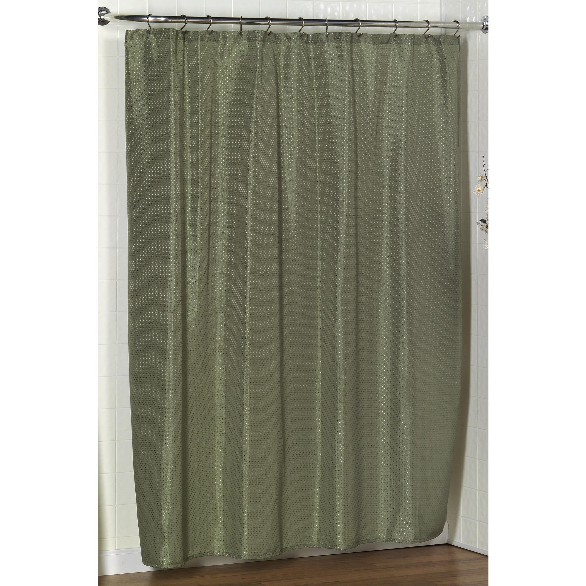 Carnation Home Lauren Dobby Fabric Shower Curtain In Sage
