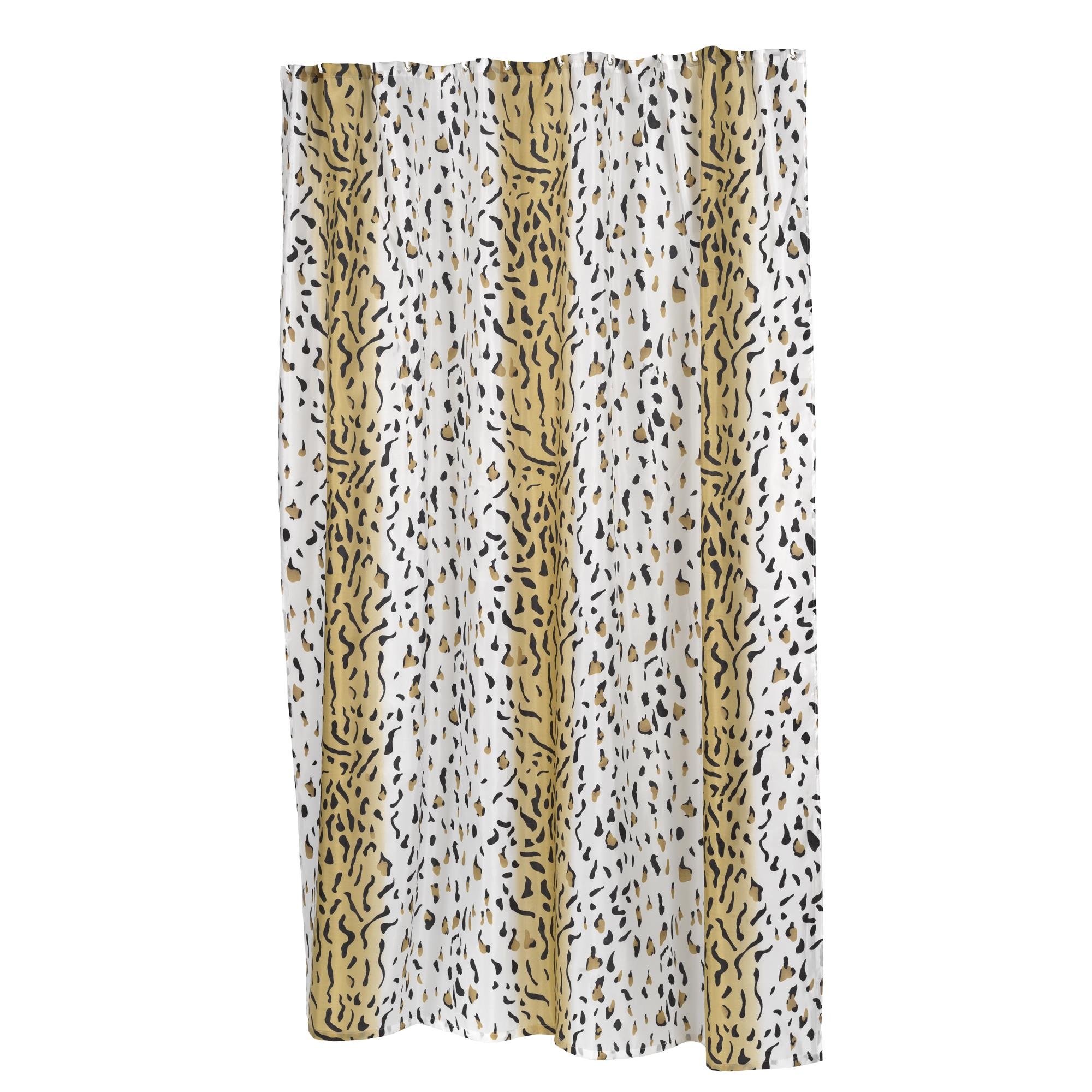 Carnation Home Extra Long Hailey Fabric Shower Curtain 71821010059