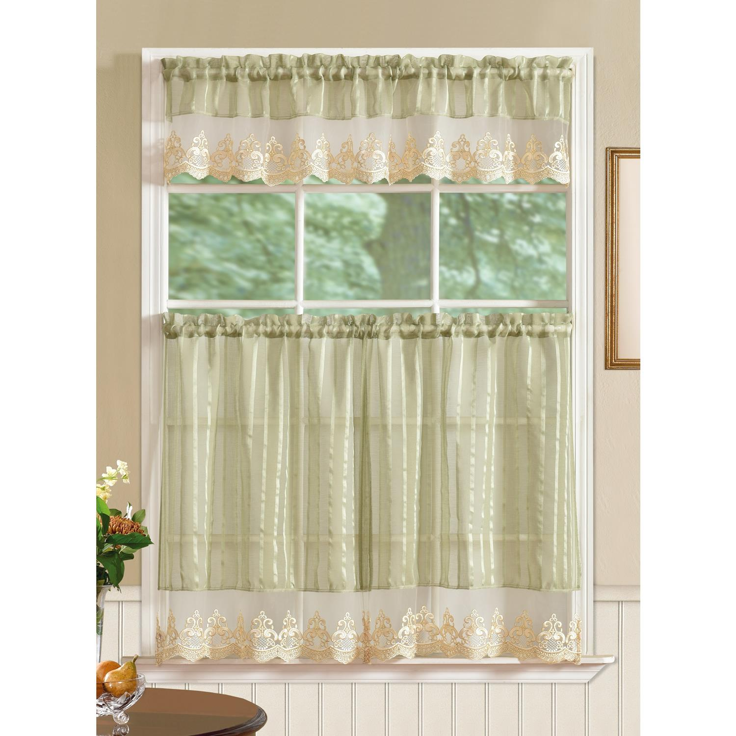 Kitchen Curtains Tier Set Not White