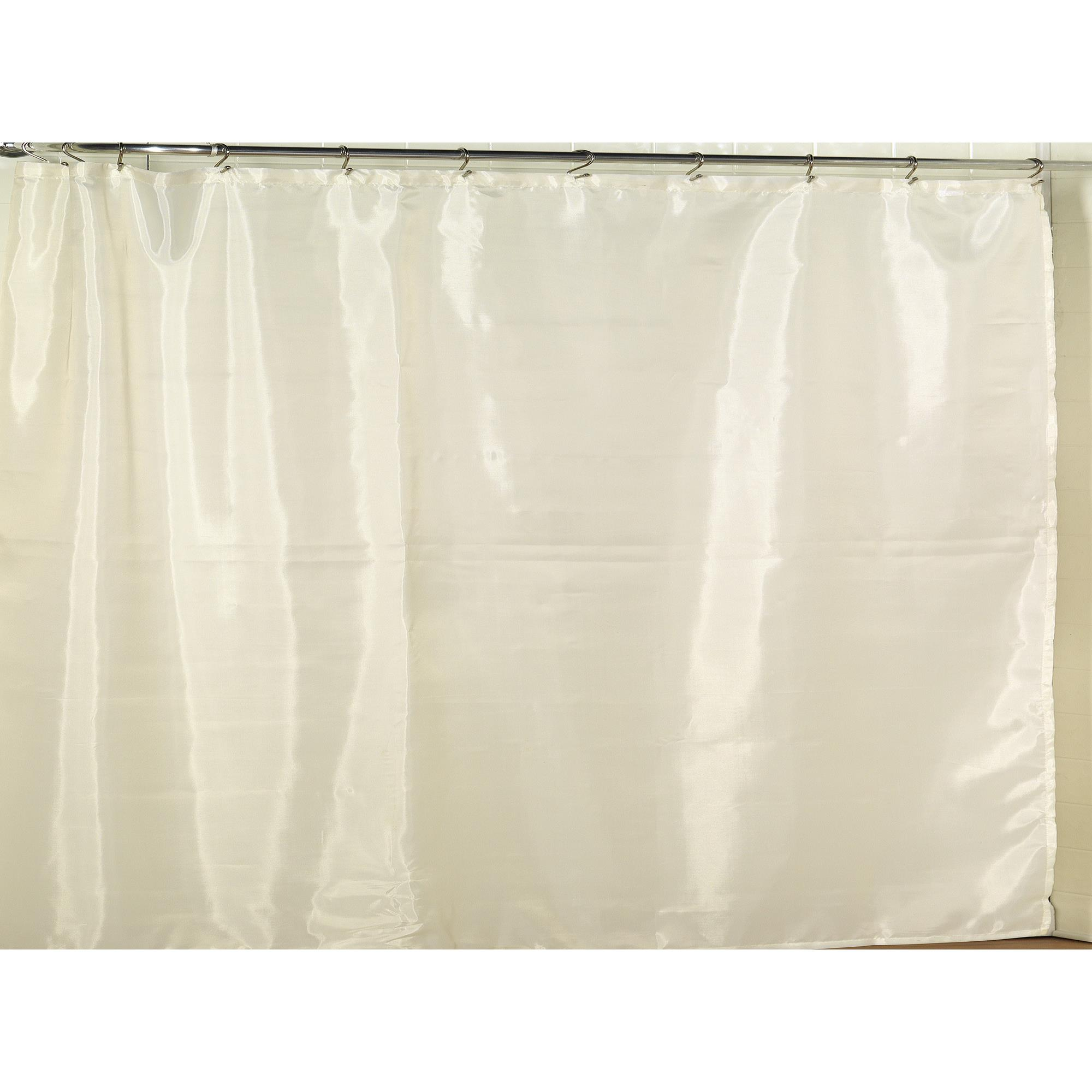 Carnation Home Extra Wide Polyester Fabric Shower Curtain Liner In