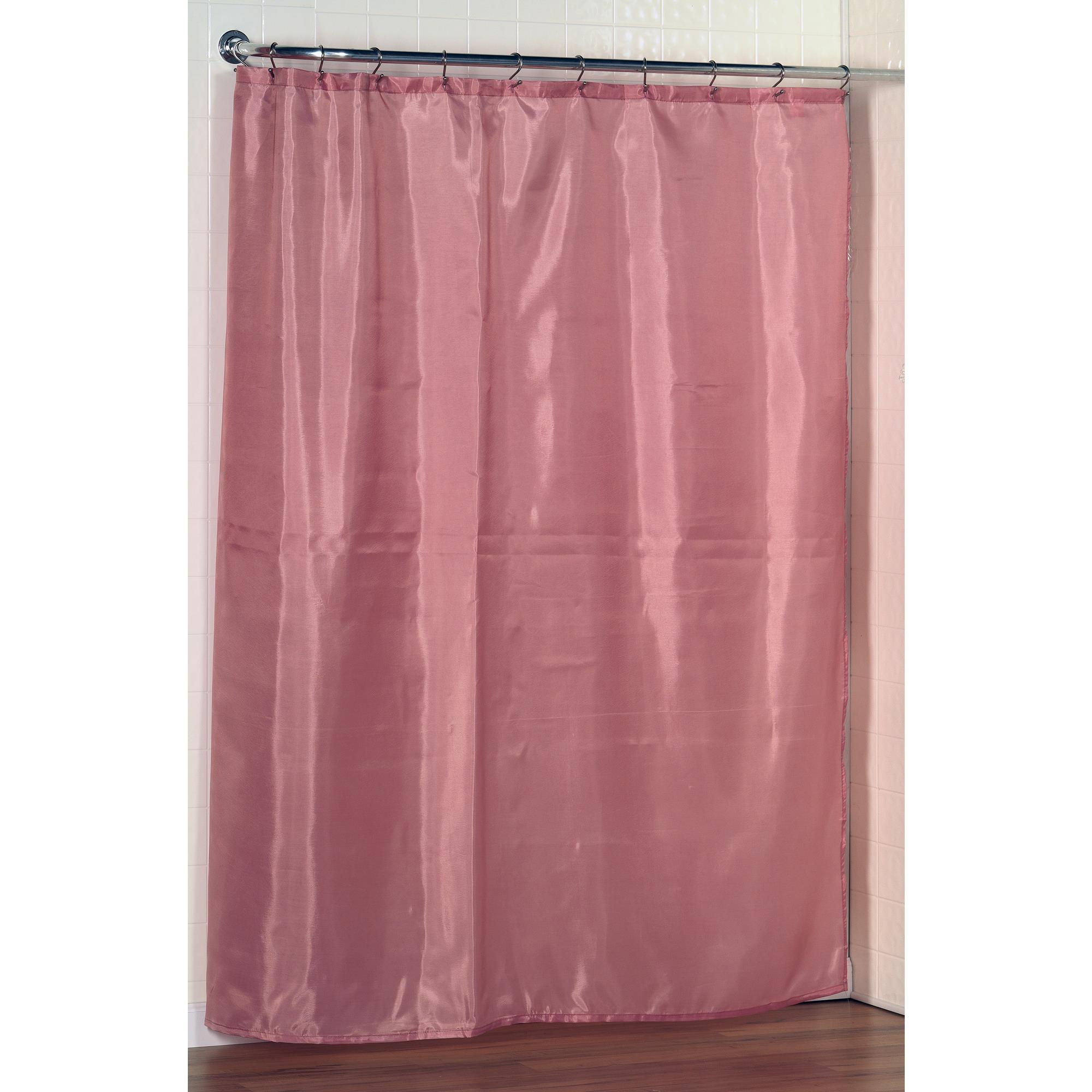Carnation Home Standard Sized Polyester Fabric Shower Curtain Liner