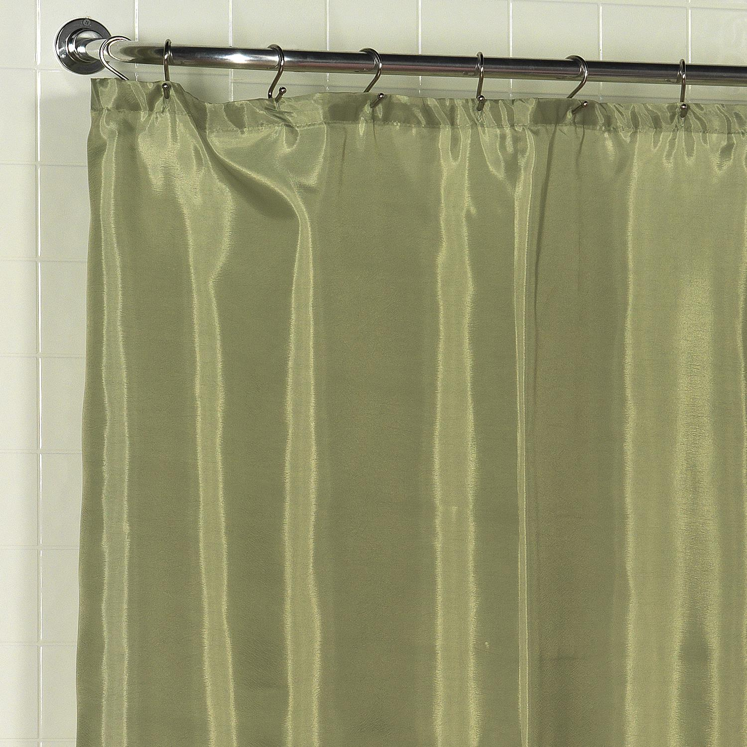 Details About Carnation Home Standard Sized Polyester Fabric Shower Curtain Liner In Sage