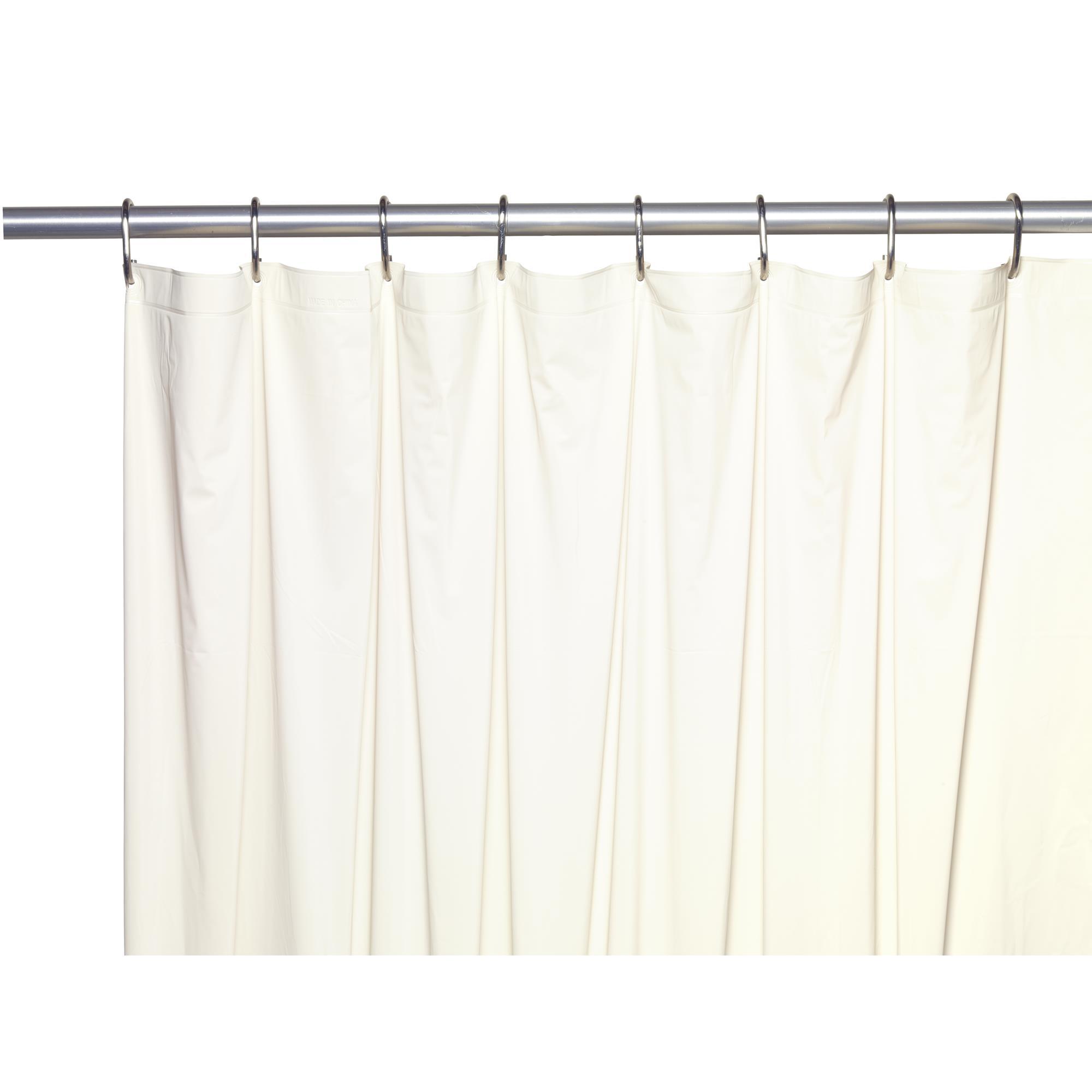 Carnation Home Shower Stall-Sized, 5 Gauge Vinyl Shower Curtain ...