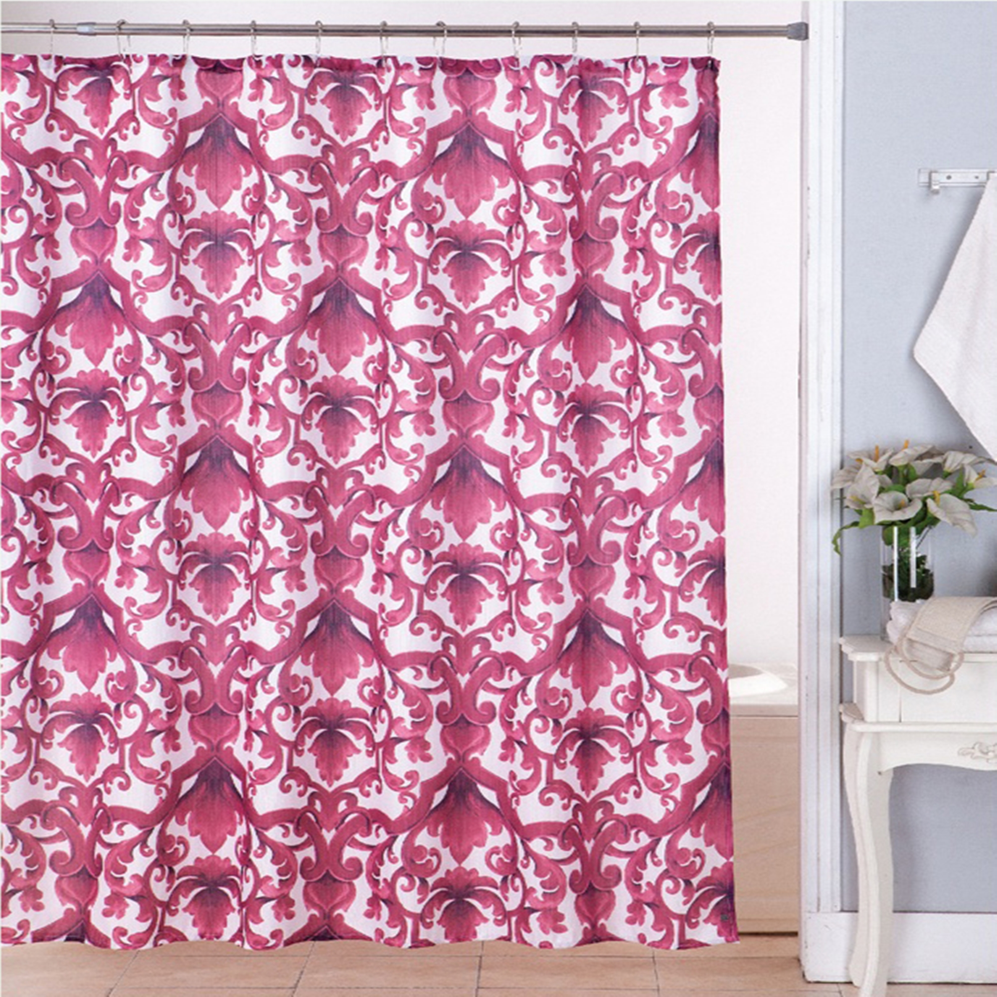 Kashi Home Woven Modern Contemporary Ariel Shower Curtains