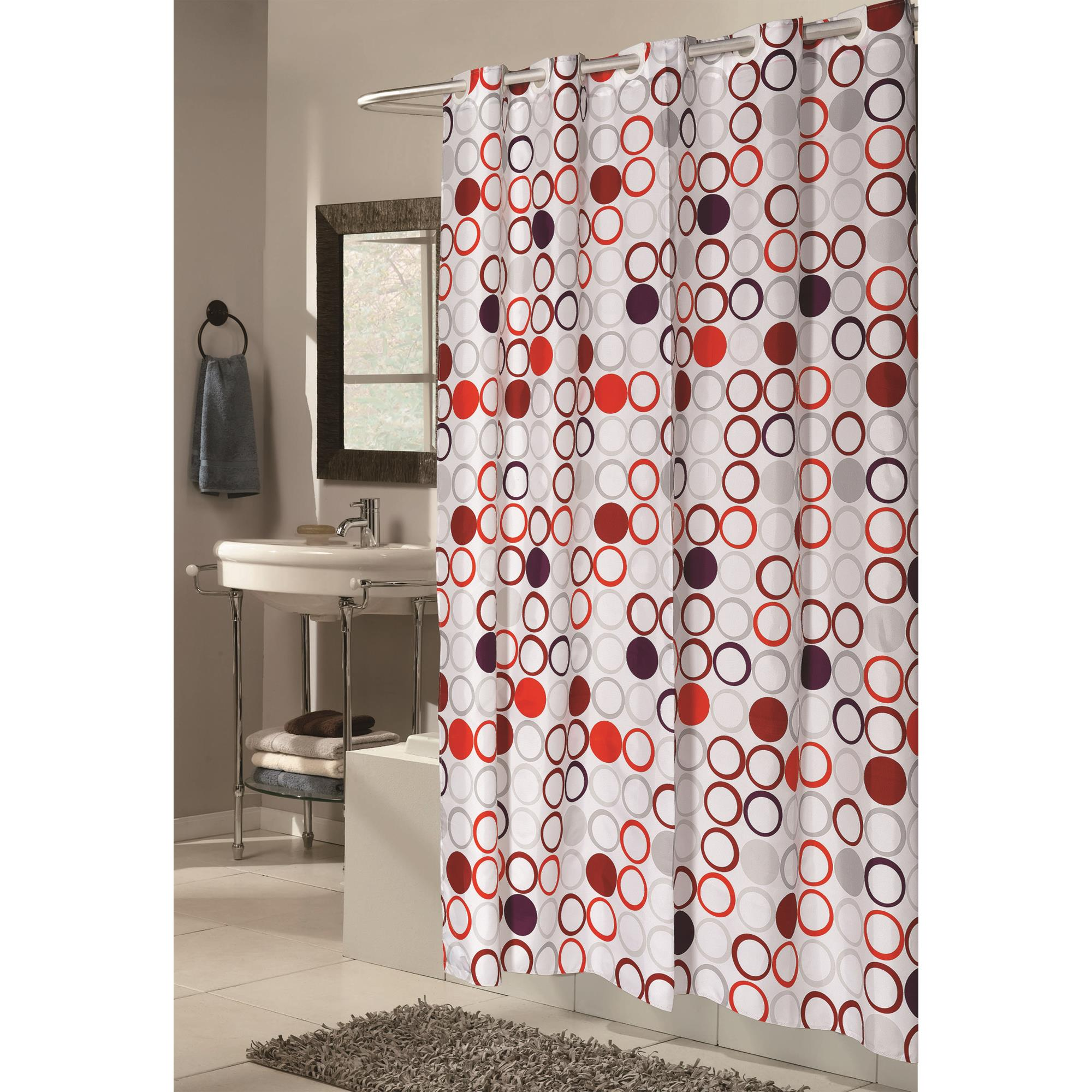 Carnation Home Extra Long EZ ONR Bohemia Polyester Shower Curtain
