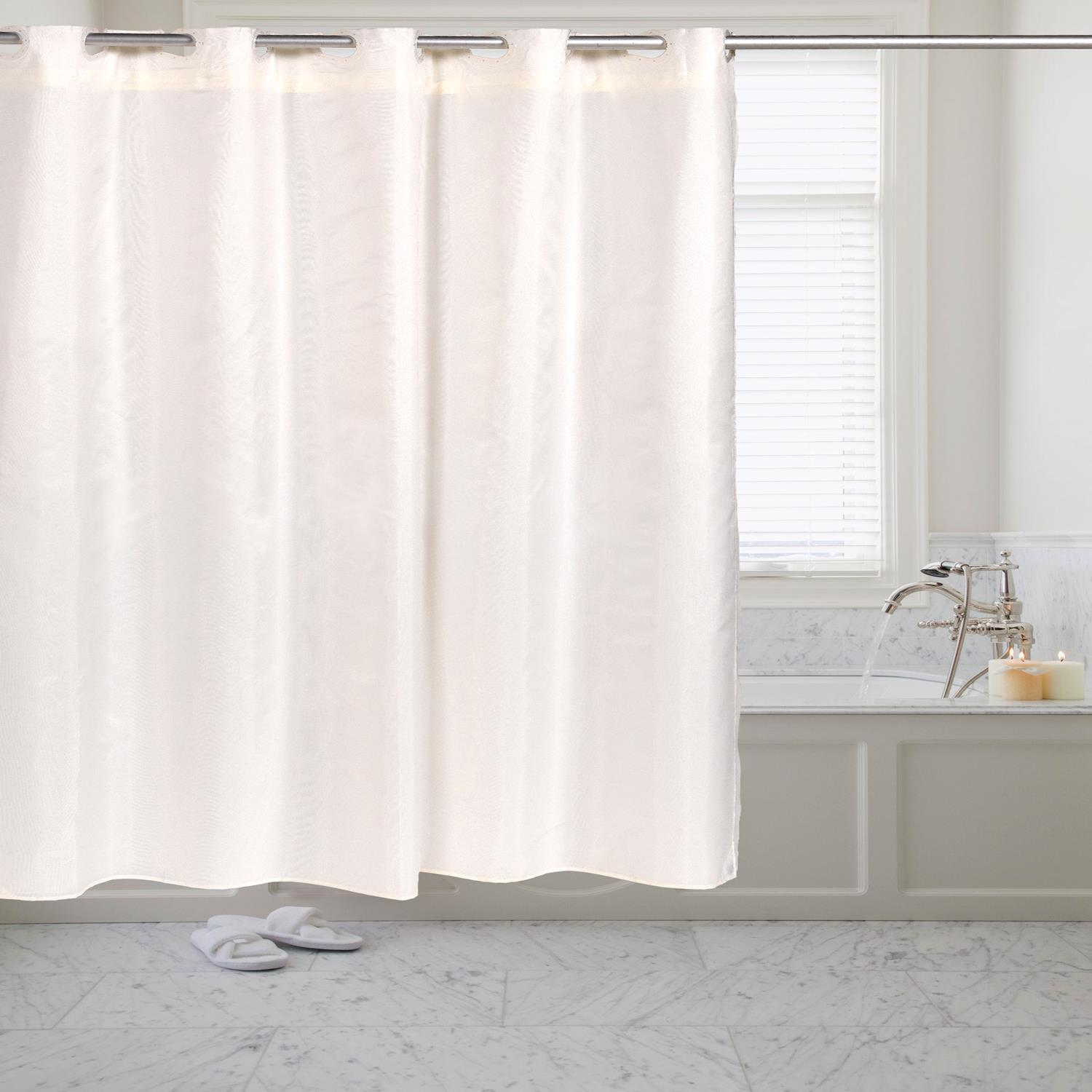 Details About Carnation Home Pre Hookedt Fabric Shower Curtain In 70x72 Ivory