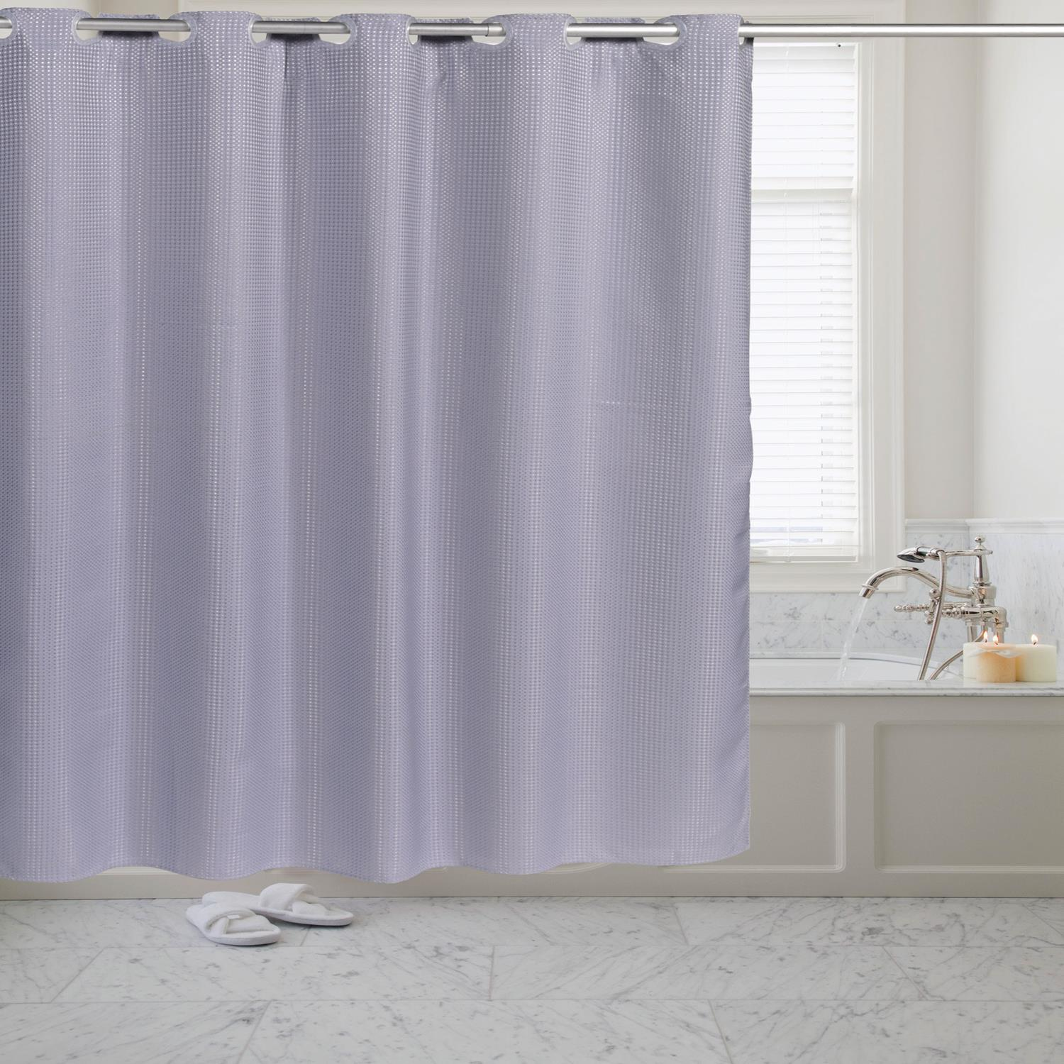 Details About Carnation Home Pre Hookedt Waffle Weave Fabric Shower Curtain 70x72 Pewter