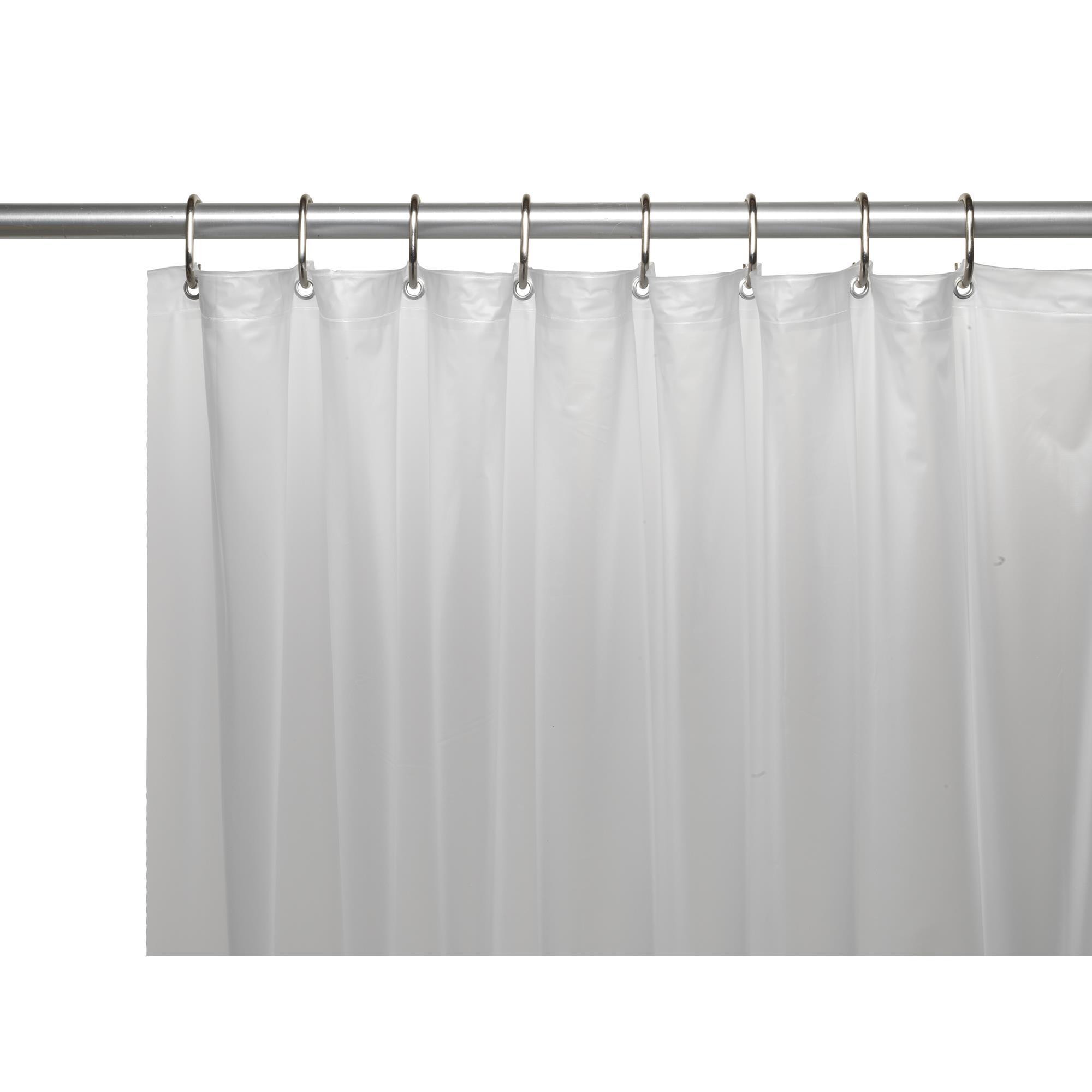 Carnation Mildew Resistant 10 Gauge Vinyl Shower Curtain Liner Slate 72 x 72