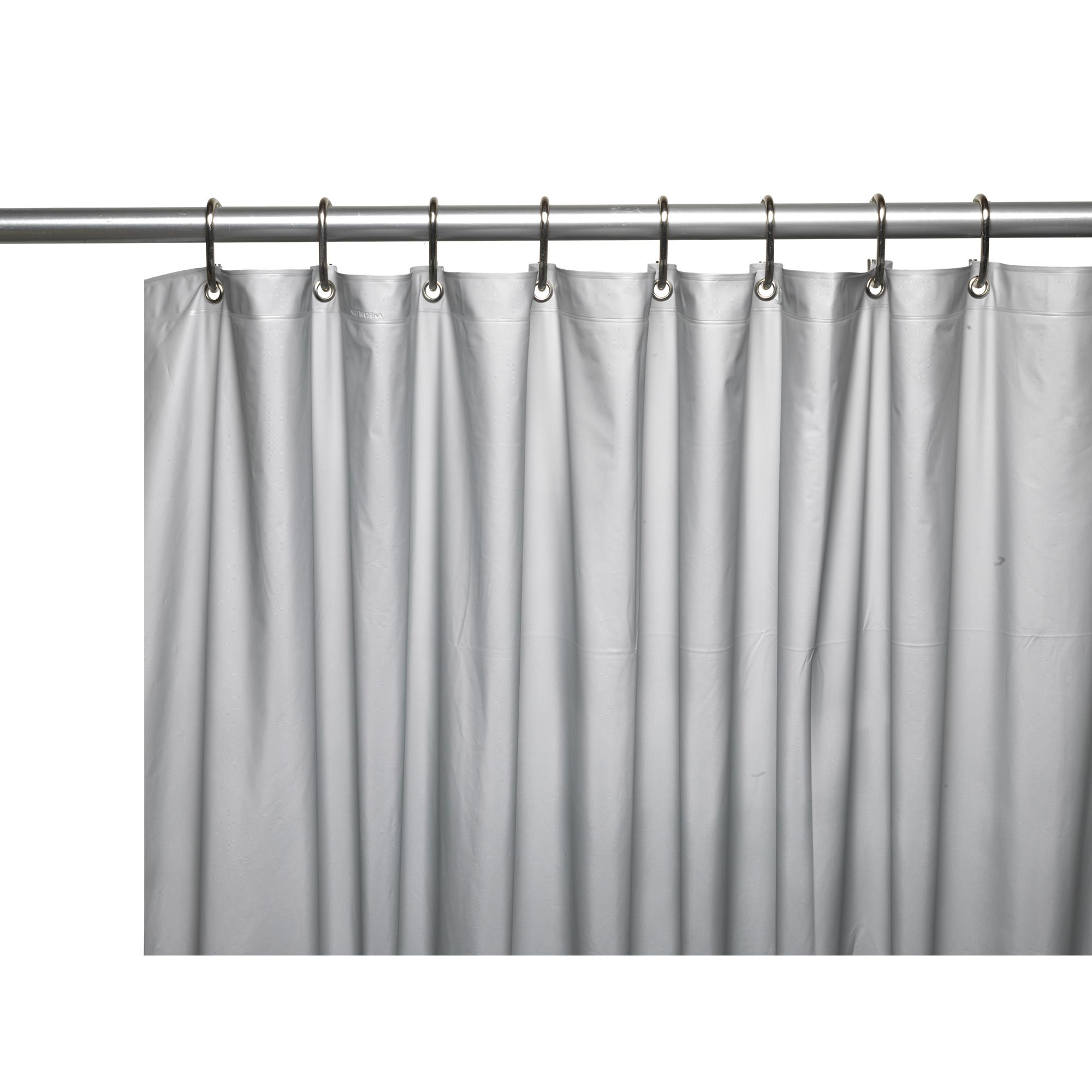 Carnation 3 Gauge Vinyl Shower Curtain Liner Weighted Grommets